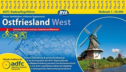 ADFC-RadausflugsführerOstfriesland West 1 : 50 000: Die schönsten Tagestouren zwischen Dornum und Leer, Greetsiel und Wiesmoor