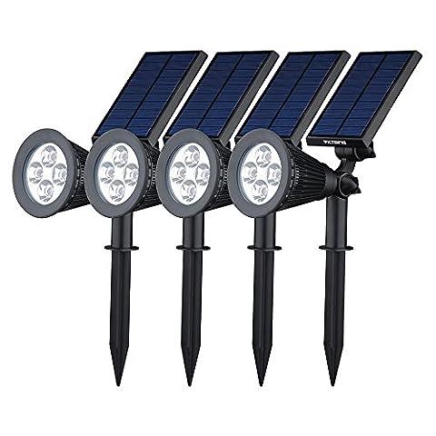 [Upgraded 200 Lumen]VicTsing Solarbetriebene LED Solarleuchten Gartenleuchten Solarlampe Aussenleuchten Außenleuchte