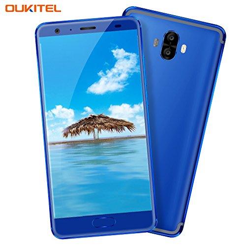 Handy ohne Vertrag, Oukitel K8000 4G Smartphone mit Großem Akku 8000mAh 5.5 Zoll Touch-Display 4GB RAM 64GB Interner Speicher Android 7.0 (16MP+2MP Hintere, 13MP Vordere Kamera) Dual SIM Smartphone
