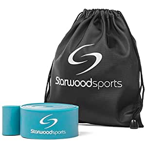 Starwood Sports Ballet Band - Resistance Stretch Band for Dancers, Exercise, Flexibility and Gymnastics - Includes Instruction Booklet and Carry Bag