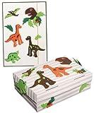 Unbekannt 2 tlg. Set: Bastelset Schulbox / Kreativbox + Mappe - Dinosaurier Jungen Dino T-Rex - Schule Basteln Malbox für Kinder / Zeichenbox Schachtel / Spielzeugkiste / Box