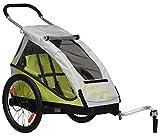 XLC 20 Zoll Mono² inklusive Buggyrad Fahrradkinderanhänger, Limone