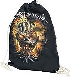Iron Maiden Eddie Exploding Head Turnbeutel schwarz