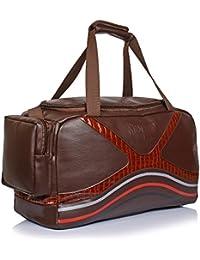 Suntop Diablo Faux Leather Duffel Bag For Travel/Gym Bag With Shoe Compartment