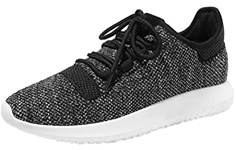 Bling-Bling Women Breathable Comfort Round Toe Tie Up Woven Sneaker
