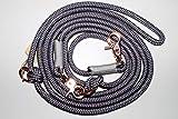Hundeleine Seil 230cm Charcoal Grey/Light Silver_Micro/Rosegold