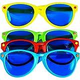 Sumind 4 Pezzi Enorme Occhiali da Sole Occhiali da Vista di Festa in Plastica per Forniture della Spiaggia Costume Festa