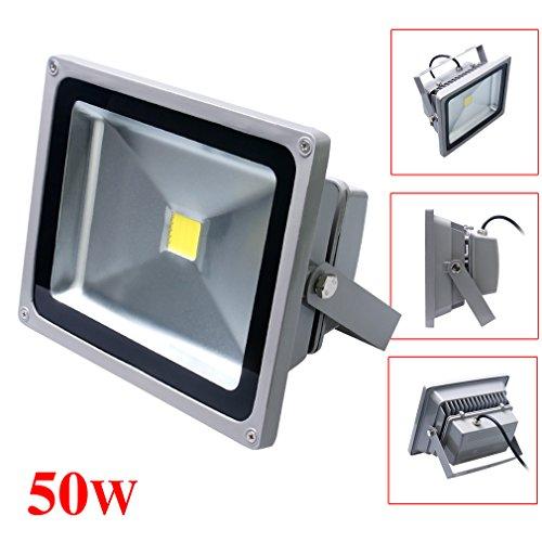 Auralum® Extérieur & Intérieur 10W/20W/30W/50W IP65 Imperméable étanche SMD LED Projecteurs 4500LM en Blanc Froid Gris(50W)