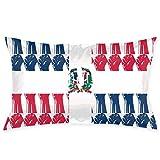 MedieMo - Fundas de Almohada Decorativas con diseño de Bandera de la República Dominicana, Suaves y acogedoras, tamaño estándar 50,8 x 76,2 cm, con Cremallera Oculta