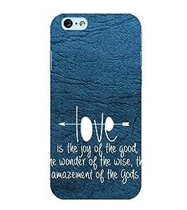 PrintVisa Designer Back Case Cover for Apple iPhone 6 (Love Defining Quote)
