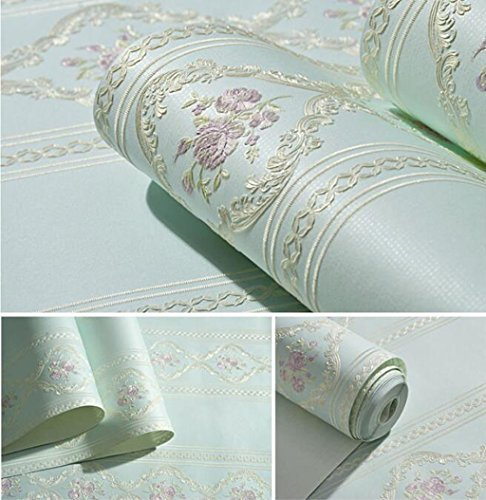 Sucastle®,Neue non-woven dicken Tapeten, europäischen Stil Wohnzimmer Hintergrundbild (Schlafzimmer Sparkly Vorhänge)