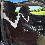 DIELIAN Luxus australische Schaffell Sitzauflagenkissen Abdeckung Auto Sitzbezug