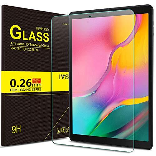 IVSO Displayschutz für Samsung Galaxy Tab A T515/T510 10.1 2019, 9H Härte, 2.5D, Displayfolie Schutzglas Displayschutz Für Samsung Galaxy Tab A 2019 T515/T510 10.1 Zoll, (1 x)