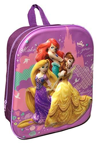 Zaino Asilo Scuola Materna Disney Principesse Princesse - Rapunzel - Ariel - Bella - Sagome Tridimensionali 3D