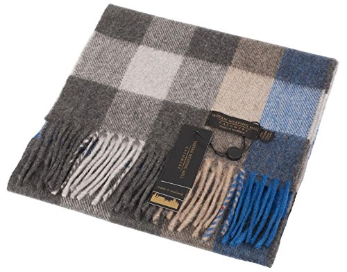 Preisvergleich Produktbild I Luv LTD Unisex Scottish Cashmere Scarf In Cubes Shadow Tartan Design 26cm Wide