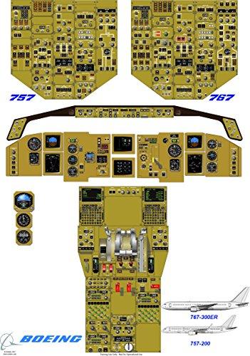 boeing-757-200-767-300er-cartello-della-cabina-di-guida-carta-di-seta-a0-220-gsm