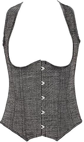 E-SHINE CO Women's Rocker Style Vest Underbust Fashion Corset Serre taille