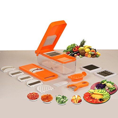 Paasapahce slice and dice, 10 in 1 food processor-orange