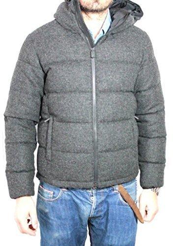 ASPESI piumino mod. Axe Hood I4I 7149 9345 antracite 100% lana Made in Italy XXL