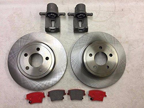 NEWTEK LPB Nty 2x Bremssattel hinten, Bremsscheiben & Keramik Pads 300C 2005-2016/ Charger 2006-2016massiv Scheiben (Dodge Charger Brake Pads)