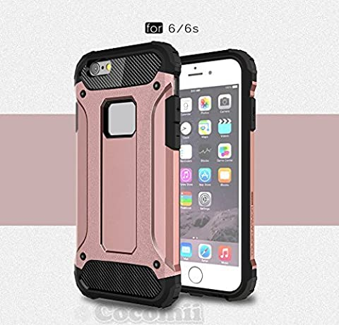 iPhone 6S / iPhone 6 Coque, Cocomii Commando Armor NEW [Heavy Duty] Premium Tactical Grip Dustproof Shockproof Hard Bumper Shell [Military Defender] Full Body Dual Layer Rugged Cover Case Étui Housse Apple (Rose Gold)