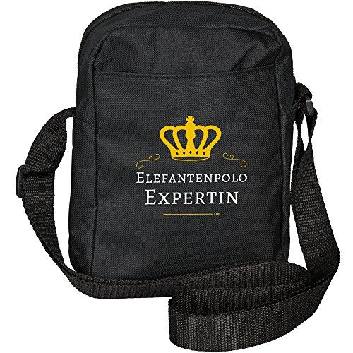 Bolso bandolera con diseño de elefantes Polo unaexperta colour negro