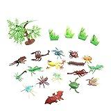 Happy Cherry Insekten Sammlung Kleine Figuren Modell Spielzeug Plastik - 17 Stück