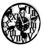 Instant Karma Clocks Horloge Murale en Vinyle Disque LP 33 Tours Maison Chat Chat Vintage Handmade