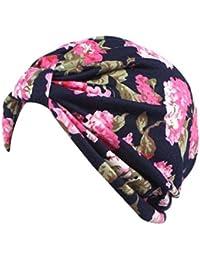 Vovotrade ❀❀ Femmes Casquette Floral Imprimé Bohemian Cancer Chemo Hat Beanie Écharpe Turban Enveloppement de tête