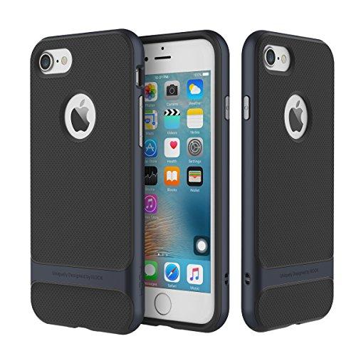 """ROCK ROYCE original Custodia iPhone 7, UltraSlim TPU+PC Case Cover Protettiva Posteriore Copertura Bumper Antiurto Antigraffio Antiscivolo per Apple iPhone 7 (4.7"""") Blu Scuro - Screen Saver"""