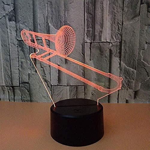 Spezial- & Stimmungsbeleuchtung Schreibtischlampen Für Kinder Posaune Led Usb Tischlampe Sieben Farben Schalter Visuelles Licht Farbe Licht Fernbedienung Und Touch Style