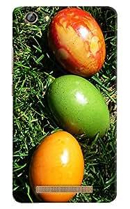 Omnam Coloful Eggs Printed Designer Back Cover Case For Gionee Marathon M5 Lite