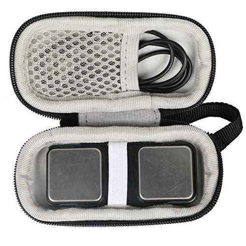 Khanka Hart Tasche Schutzhülle für KardiaMobile von AliveCor Ihr mobiles EKG Gerät.(Nur tasche) (Schwarz/Weiß)