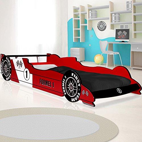 Kinderbett Rennbett in Rot - Formel 1 Autobett Rennwagen Bett