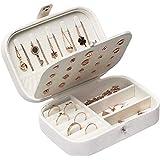 Piccolo Portagioie da Viaggio/Portagioie/Donna Scatola di Gioielli/Organizzatore di Gioielli/Jewelry Box 16 x 11x 5cm(White/B