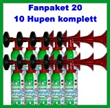 ORIGINAL Marco Fanpaket 20-----10 HUPEN Tröten pro Hupe laut Hersteller mit 200ml nicht entflammbaren Gas