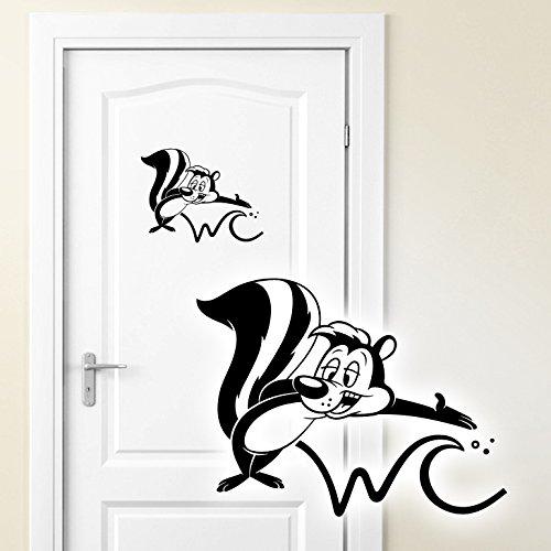 Wandaro W3033 Wandtattoo Türaufkleber WC Stinktier