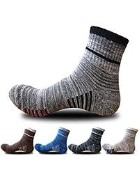 SHBUY 5 pares de calcetines de hombre, Calcetines Transpirable Absorbe Running Deporte Bicicletas Calcetines Hombre