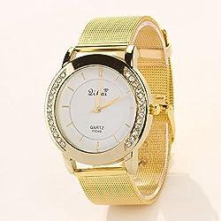 77 Fashion Hot Luxury Brand Stainless Steel Gold Watch Wristwatch Quartz Watch Electronics Montre Reloj Mujer Watch XR488
