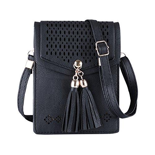 2950c89ec150 Mini Women Shoulder Bag Universal PU Leather Phone Bag Message Small  Handbags with Adjustable Shoulder Strap