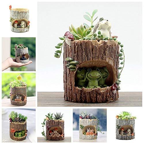 g: # 5 Pole: Panda Hund Kaninchen Resin Mini ntopf ige Plan Schreibtisch Flowerpot ()