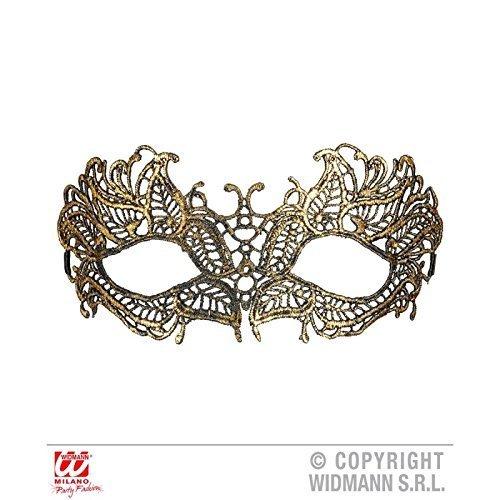 Preisvergleich Produktbild Zierliche Augenmaske / Maske Baroque aus antiker goldfarbener Spitze