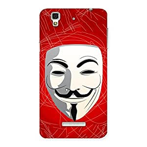Impressive Red Anonymous Mask Back Case Cover for Yu Yureka