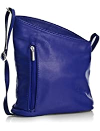 e258686344c17 Big Handbag Shop Damen kleine echtes weiches Venenzi Italienisches Leder  Cross-Body-Tasche