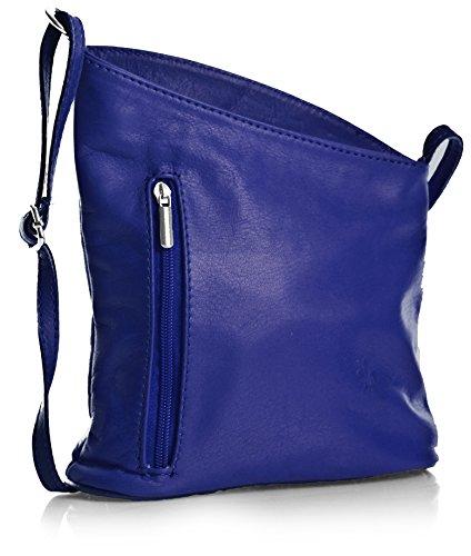 Big Handbag Shop Sac bandoulièrepour femme en cuir véritable italien Soft Venenzi