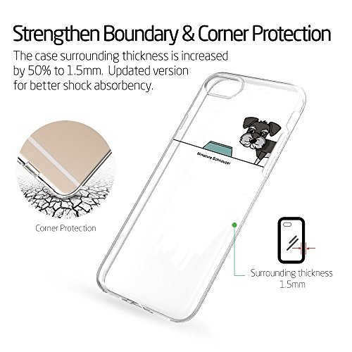 Pacyer® iPhone 7 Custodia Cane Dog TPU Gel Silicone Protettivo Skin Custodia Protettiva Shell Case Cover Per Apple iPhone 7 (4,7) (8) 4