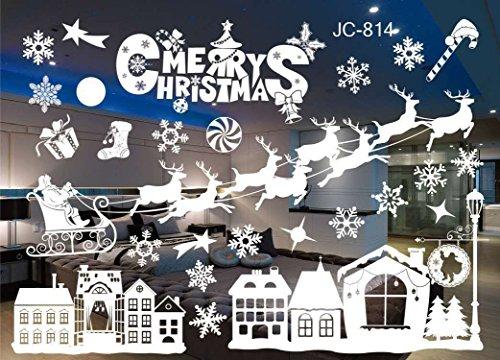 VANCORE Weihnachten Fenster klammert Sich an Aufkleber Statische Glas Wand Sticker Ornament Jc-814