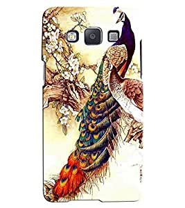 Citydreamz Peacock/Colorful Feathers/Mor Pankh/Birds/Nature/Beautiful Hard Polycarbonate Designer Back Case Cover For Samsung Galaxy E7