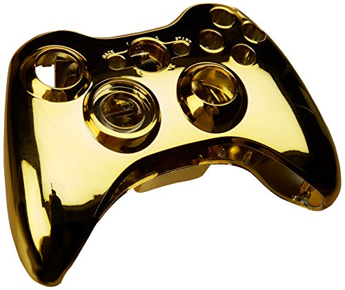 Gold Chrome Full Housing Shell Case Cover for Xbox 360 Wireless Controller