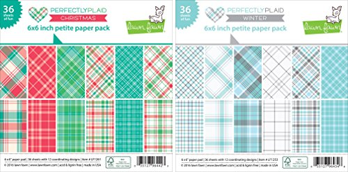 lawn-fawn-petite-paper-pack-6x6-inch-bundle-perfectly-plaid-christmas-perfectly-plaid-winter-set-of-